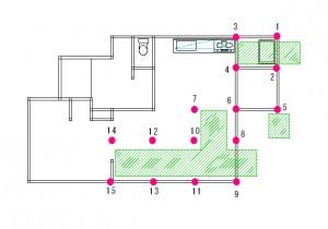 長崎の住宅の図面